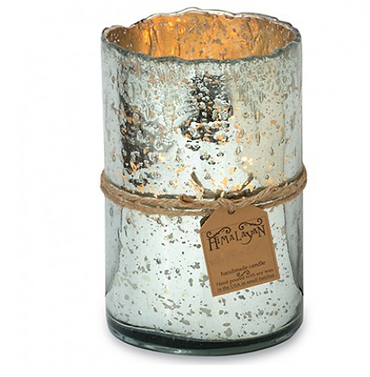 Grapefruit Pine Silver Hurricane Candle