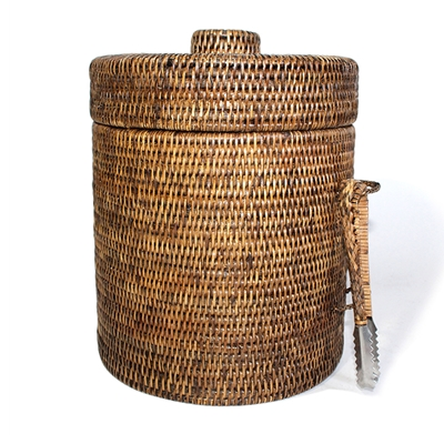 Large Rattan Ice Bucket