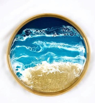 Resin Round Serving Tray