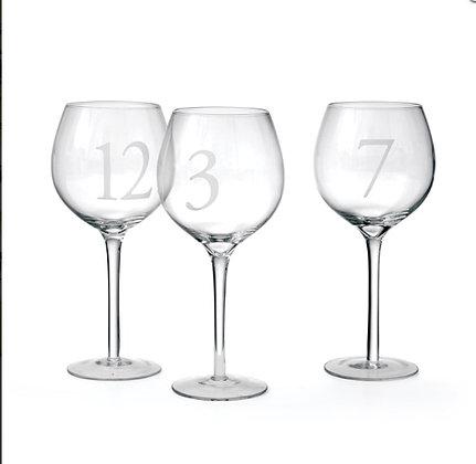 Numbered Wine Glasses