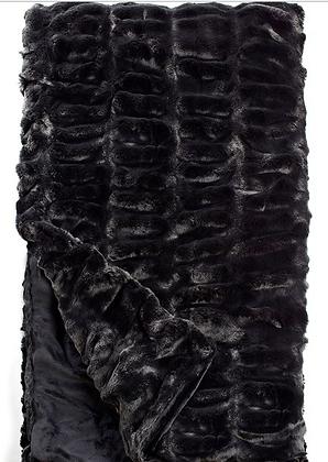 Black mink Faux Fur Throw