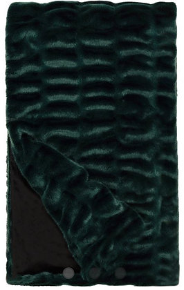 Emerald green couture throw