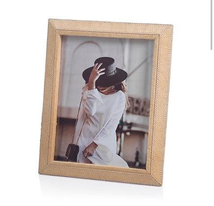 Aspen Dark Beige HairLeather Frame8 x 10