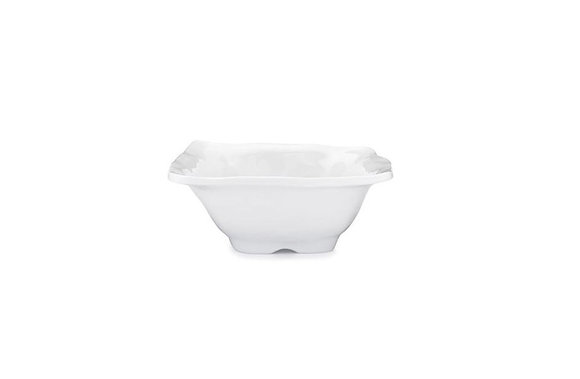 Ruffle White Melamine Small Square Dip Bowl