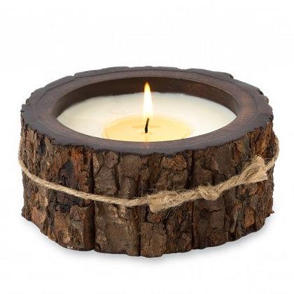 Tree Bark Candle- small single wick