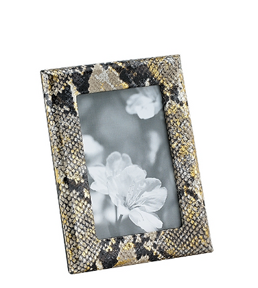 Gold Wash Embossed Python Skin Frame