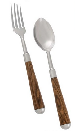 Baton Wood serving set