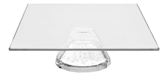 Square crystal cake plate
