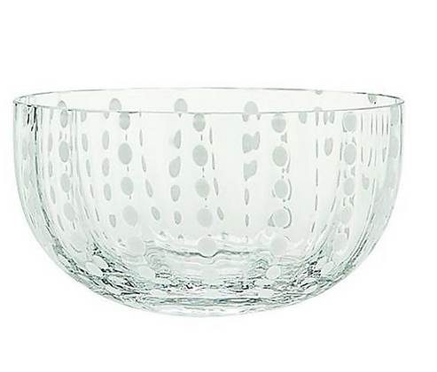Dotted glass bowl