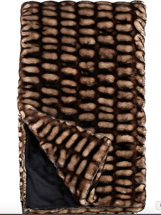 Shadow Mink Faux Fur Throw