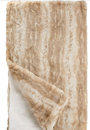 Blonde Mink  Faux Fur Throw