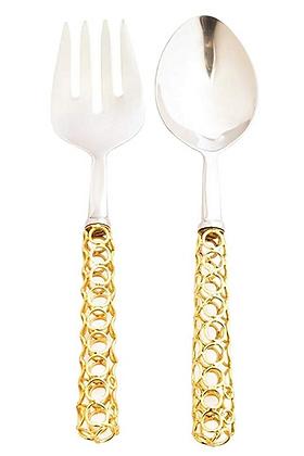 Gold Hoops serving set