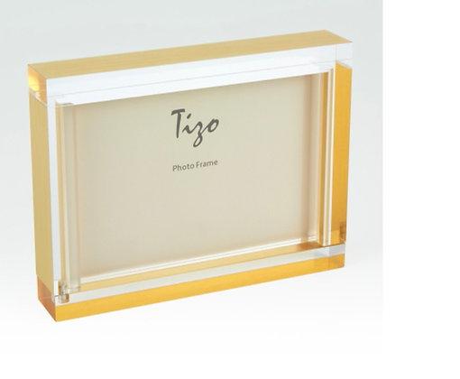 Acrylic Block Frame w Gold Surround 4 x 6