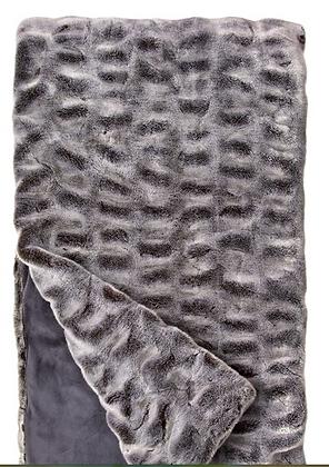 Glacier Gray Mink Faux Fur Throw