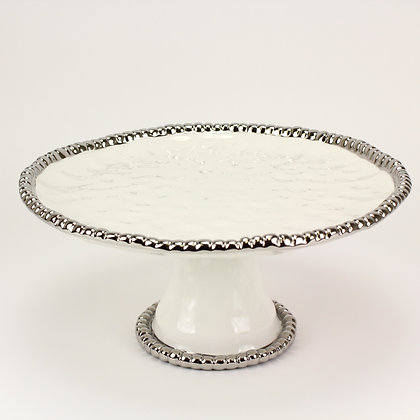 Round cake plate