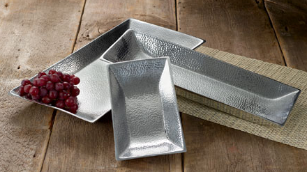 Hammered rectangle trays