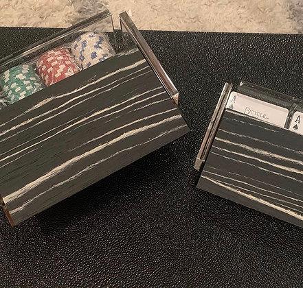 Wood Top Card Deck