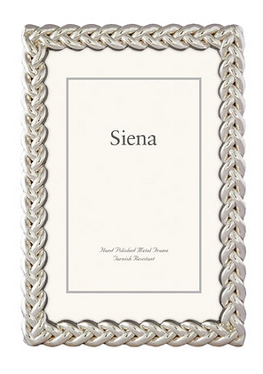 Silver Braided 5 X 7 Frame