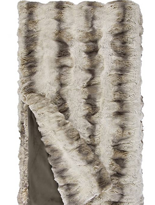 Truffle Chinchilla Faux Fur Throw