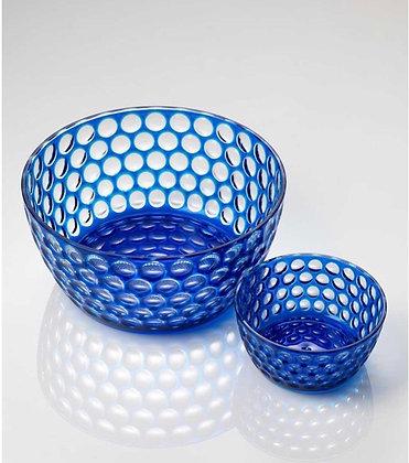 Blue Lente Snack Bowls