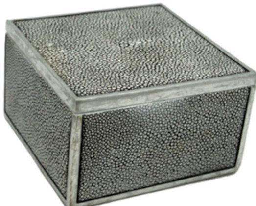 Square Gray Shagreen Box