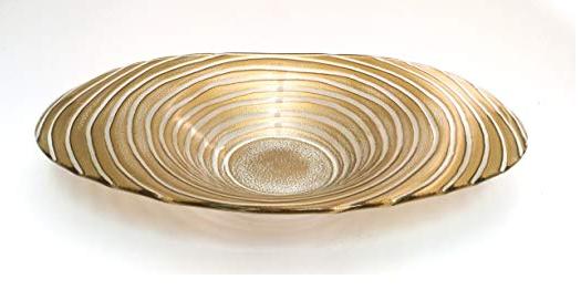 Ribbon Bowl-Gold or Silver
