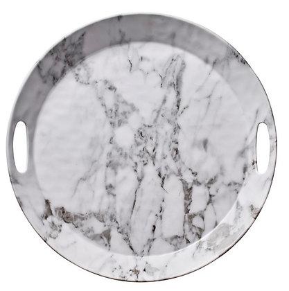 White Marble Round Tray