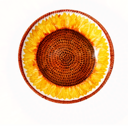 Shallow bowl- Sunflower