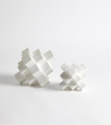 Cubic Pyramid- matte white