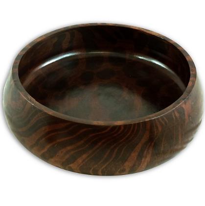 Mango wood shallow bowl