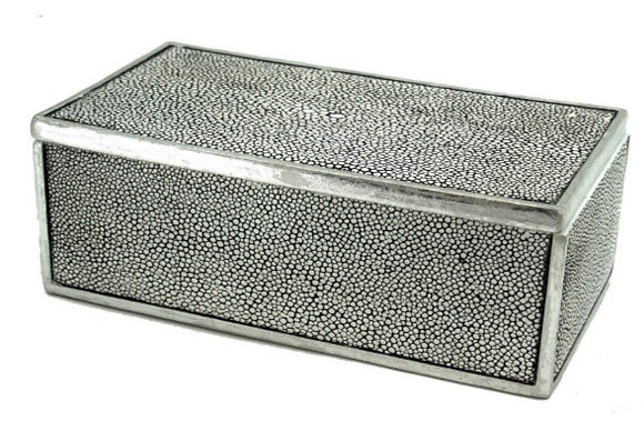 Rectangle Gray Shagreen Box