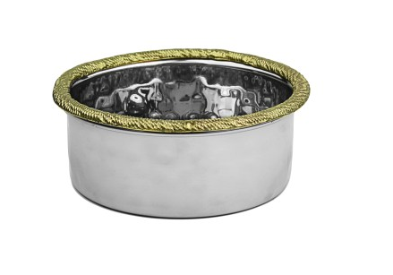 Silver wine coaster w Gold border