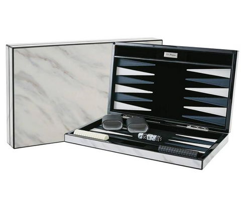 Marble Lacquer Backgammon set