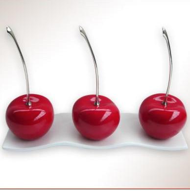 Cherries on tray