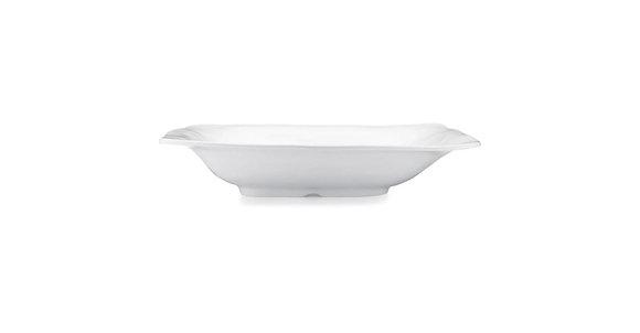 Ruffle White Melamine Rectangle Serving Bowl