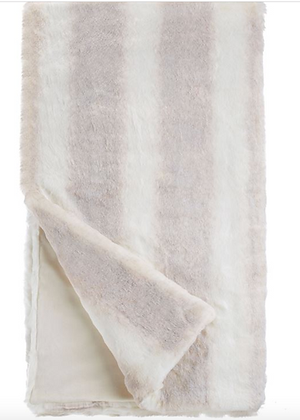 Iced Mink Faux Fur Throw