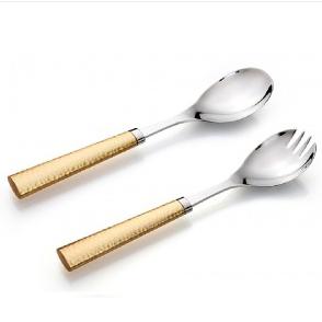 Gold Hammered serving set