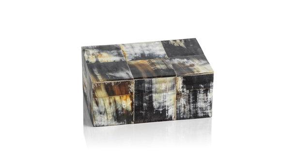 African Black Horn Inlaid Box
