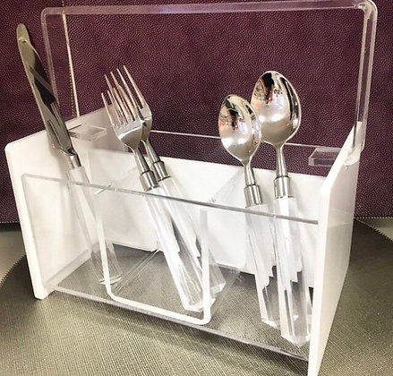 Acrylic Silverware Caddy-many colors avail.