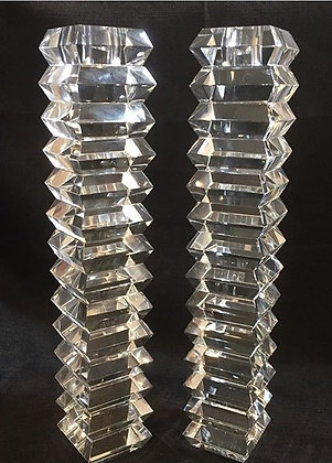 Ripple Crystal Candlesticks