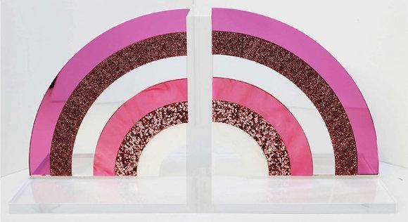 Pink RainbowAcrylic Bookends