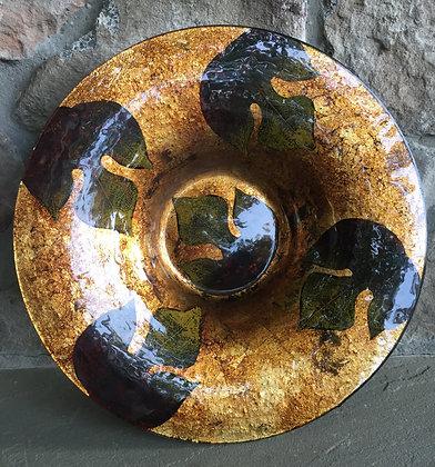 Glass leaf platter/ bowl