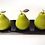 Thumbnail: 3 Cermaic Pears w/Silver Stems on White or Black Ceramic Tray