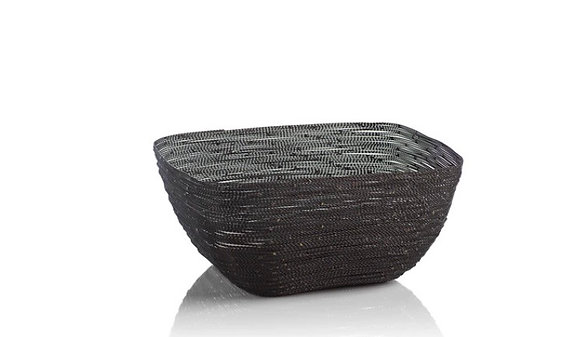 Black Wire Twisted Bowl
