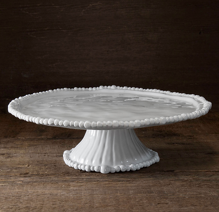 VIDA Alegria Pedestal Cake Plate White