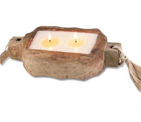 Driftwood Candle Tray - Grapefruit Pine