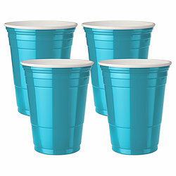 Plastic Colored Cups - set of 4