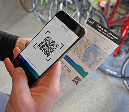 A cycling app that gets new routes from a QR Code reader