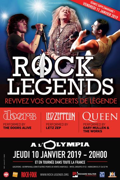 Rock Legends Led Zeppelin Queen The Doors