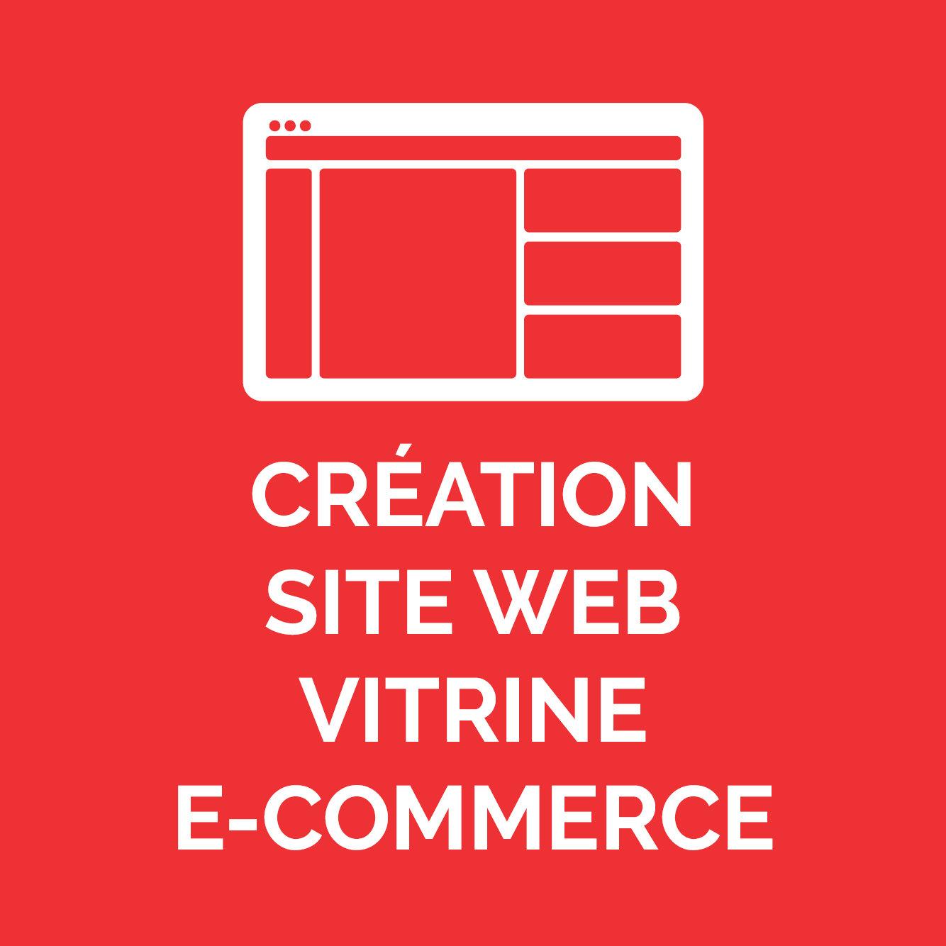 CREATION SITE WEB/ VITRINE E-COMMERCE
